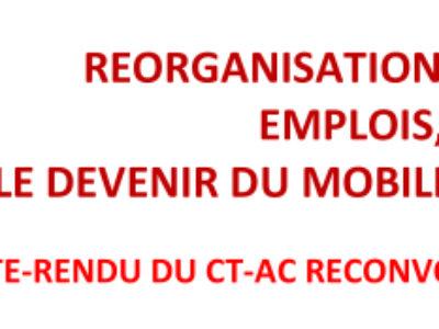 REORGANISATION DU SIAF, EMPLOIS, LE DEVENIR DU MOBILIER NATIONAL