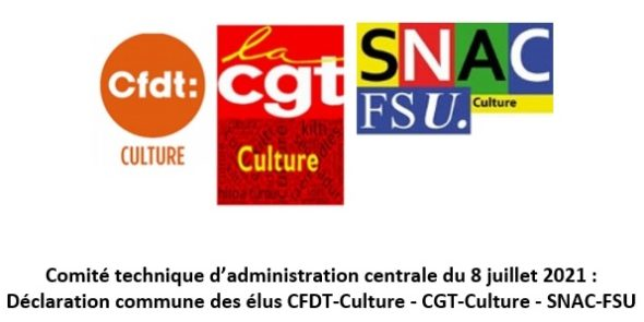 Déclaration intersyndicale CFDT-CGT-FSU au CT-AC du 8 juillet 2021