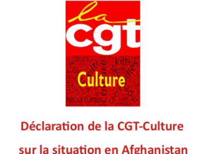 Déclaration de la CGT-Culture sur la situation en Afghanistan