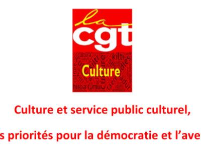 Culture et service public culturel, les priorités pour la démocratie et l'avenir