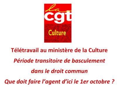 Télétravail au ministère de la Culture