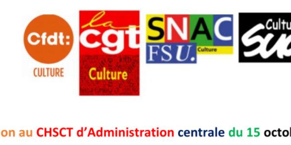 Déclaration au CHSCT d'Administration centrale du 15 octobre 2021